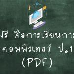สื่อการเรียนการสอนคอมพิวเตอร์ ป.1
