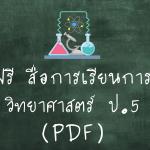 สื่อการเรียนการสอนวิทยาศาสตร์ ป.5